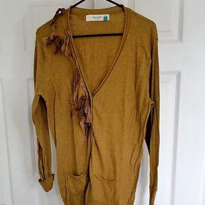 Sparrow gold tweed cardigan